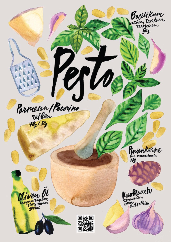 Küchen-Motive-Rezepte-Pesto