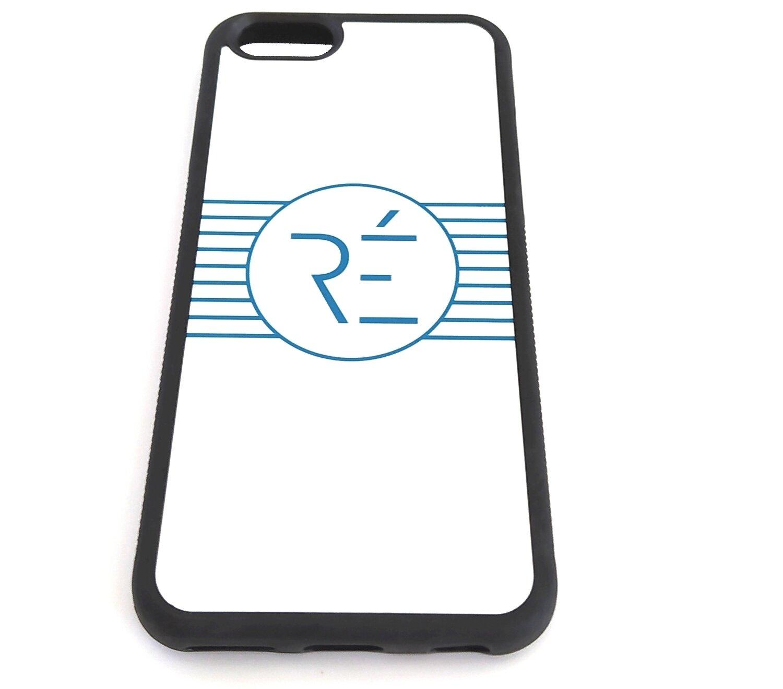 Coque Iphone blanche et bleue