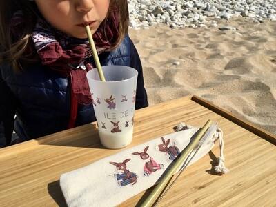 Pailles en bambou réutilisable et recyclable