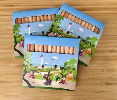 Boîte de 12 crayons de couleur Île de Ré