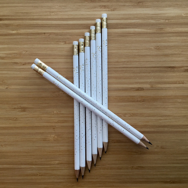Crayon à papier - Pois dorés