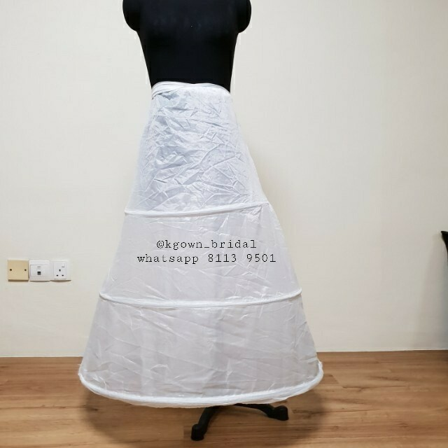 Basic 3-hoops  petticoat / can can for wedding dress