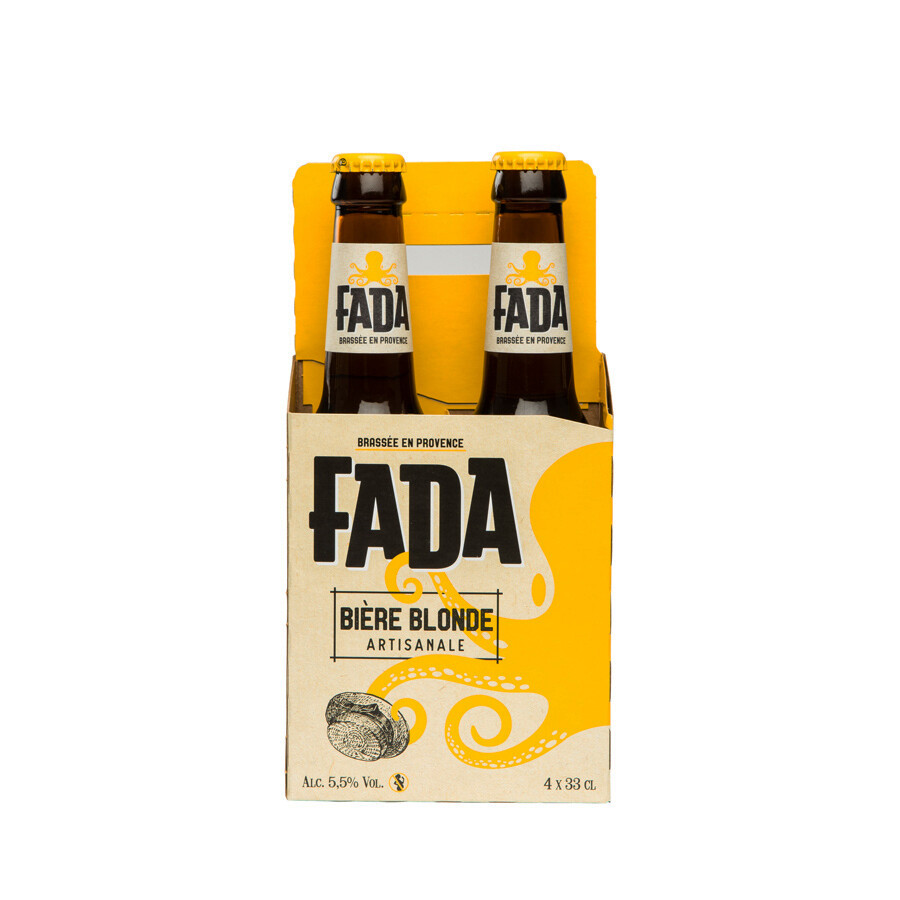 FADA Basket Pack Blonde 4 x 33 cl