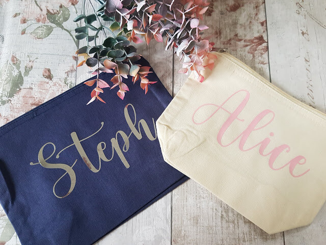 Personalised Cotton Zip Bag