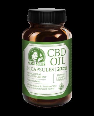 60 cápsulas de CBD 20 mg