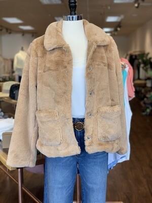 Tan Faux Fur Short Coat