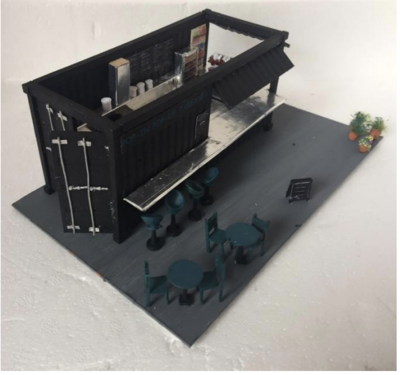 1:48 CONTAINER - Pop Up shop - (To do at weekend away)