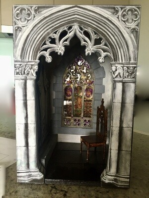 1:12 Medieval Book Nook - (To do at the weekend away)