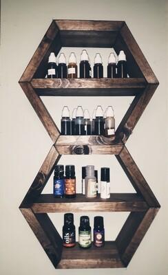 Pre-order handmade essential oil shelves