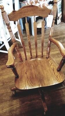 Oak Rolling Rocking Chair