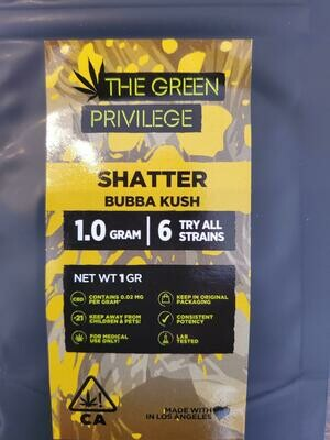 Green Privilege Shatter - Bubba Kush