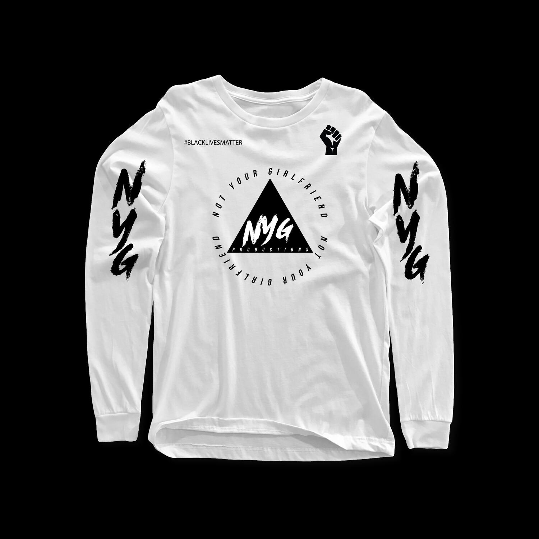 White Long sleeve nyg label tee
