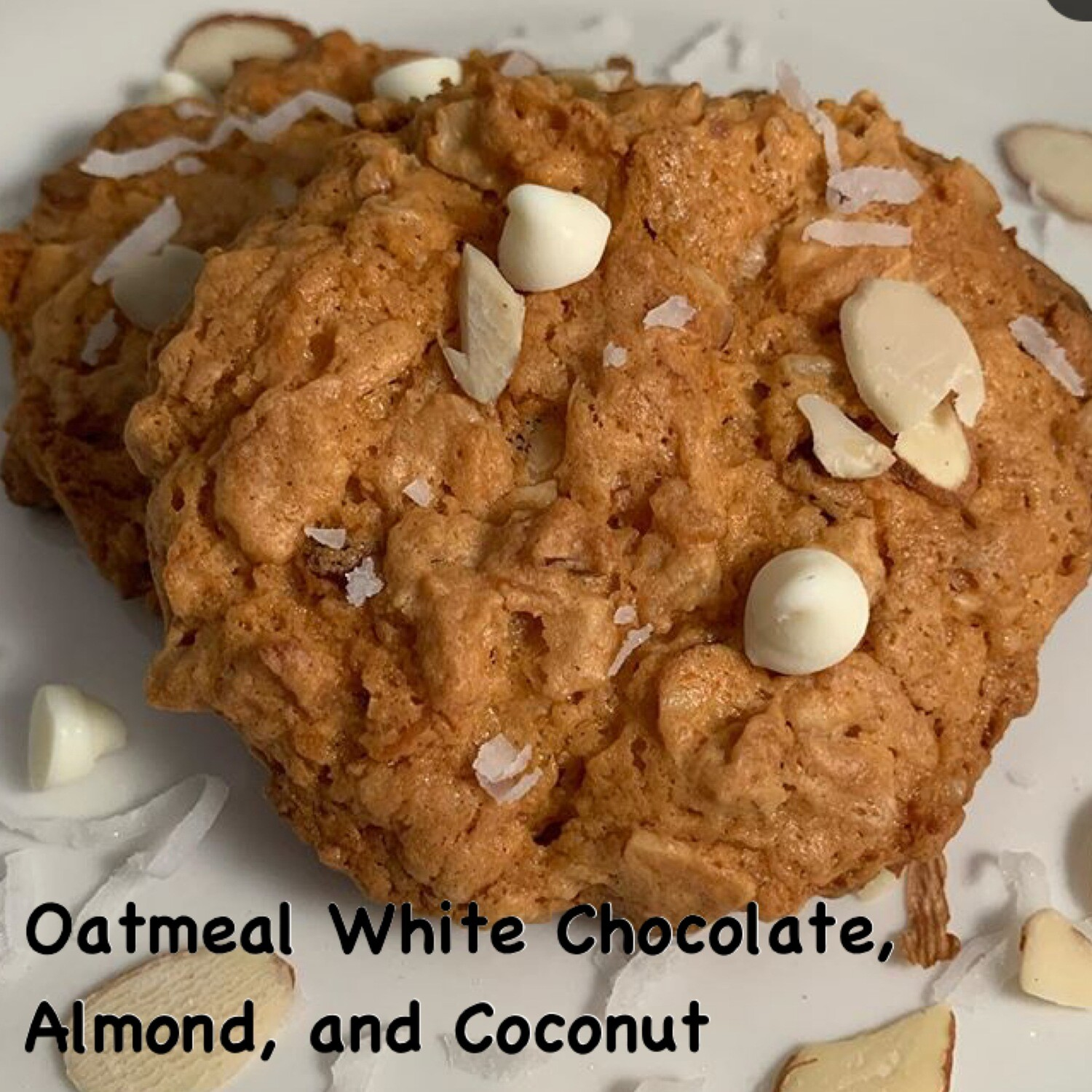 White Chocolate, Almond, and Coconut