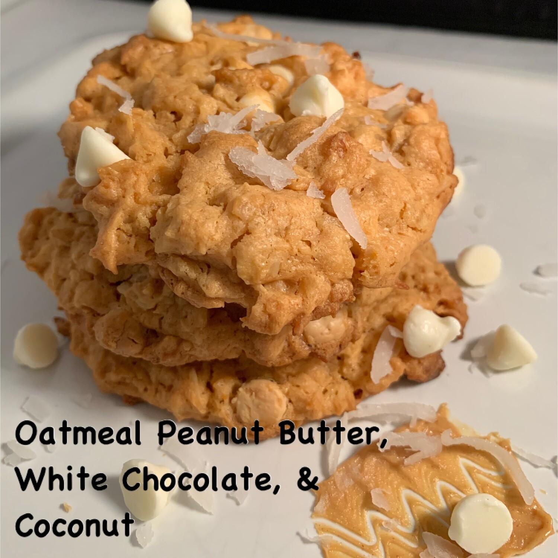 Oatmeal Peanut Butter, White Chocolate, & Coconut