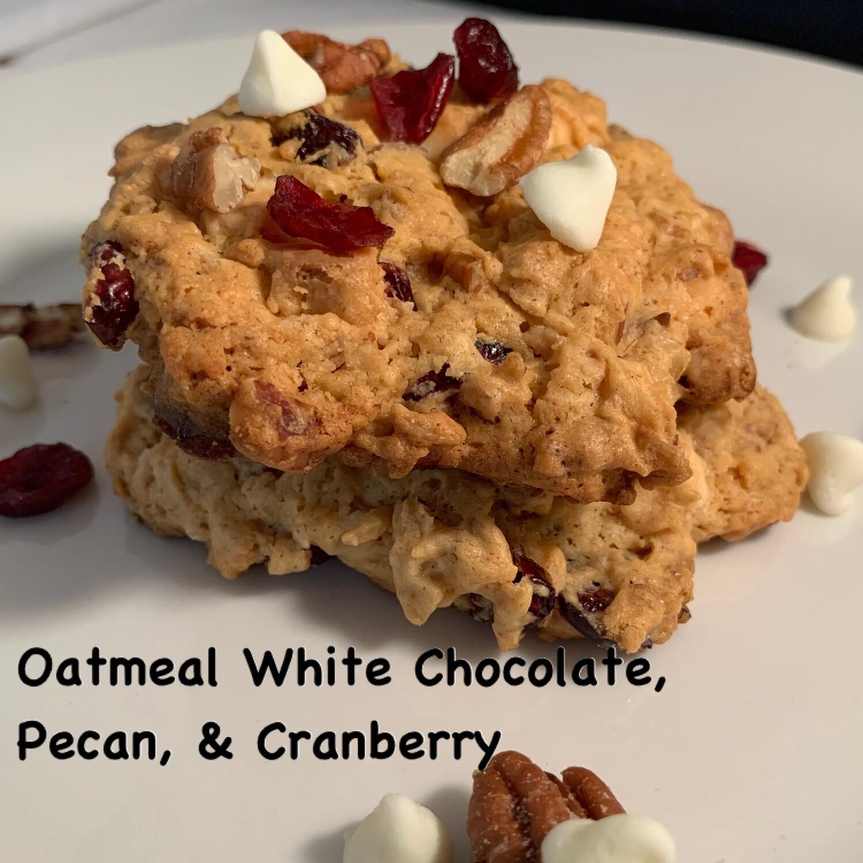 Oatmeal White Chocolate, Pecan & Cranberry