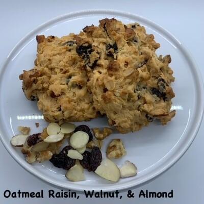 Oatmeal Raisin, Walnut, Almond