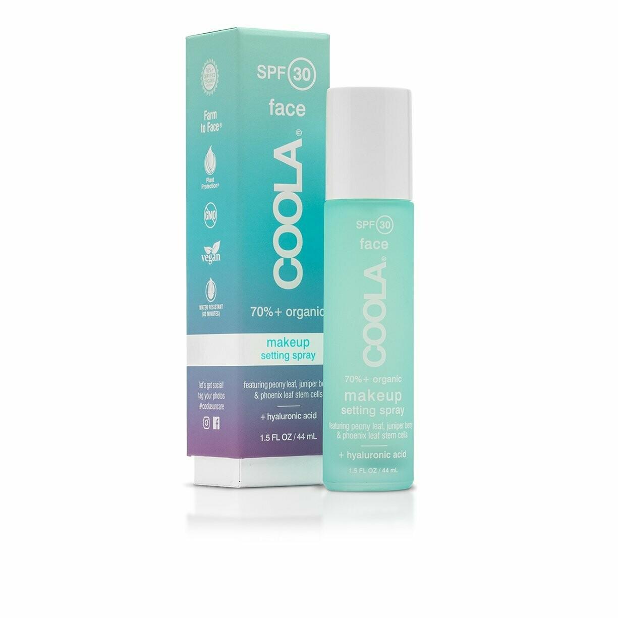 Brume fixatrice de maquillage Coola FPS 30