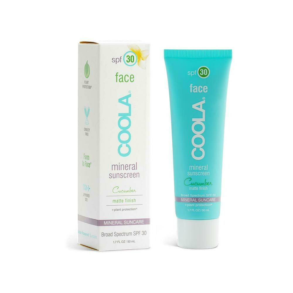 Crème visage minérale FPS 30 Concombre mat Coola