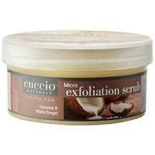 Cuccio Exfoliant Noix de Coco et Gingembre Blanc