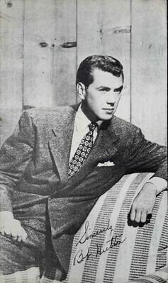"1940s Robert ""Bob"" Hutton Fan Postcard used to UK"