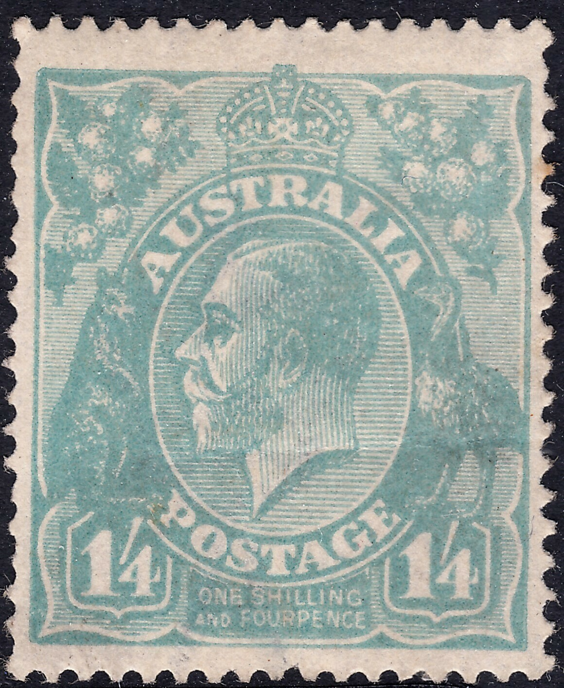 Australia 1920 KGV 1/4d Pale Blue MH See Notes