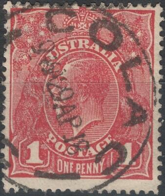 Australia 1917 KGV 1d Rose-Red Die II Used