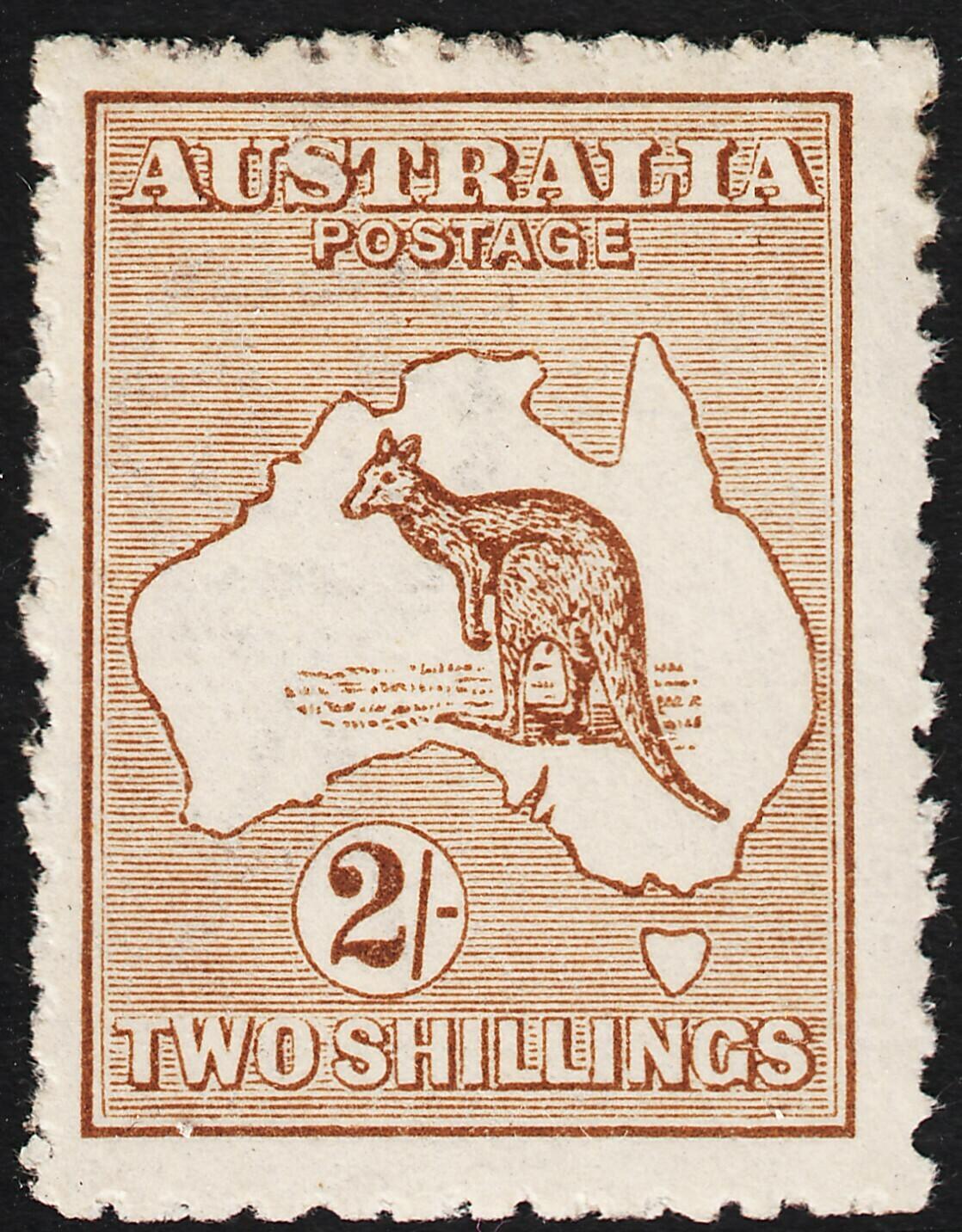 Australia 1916 KGV 2/- Brown Kangaroo MVLH