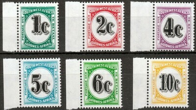 SWA 1961 QEII Postage Due Set Marginal MUH