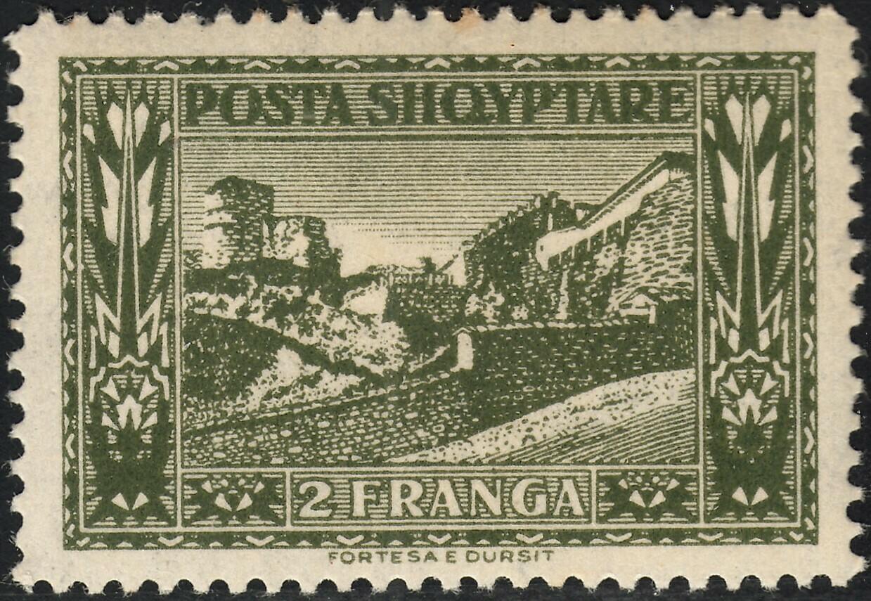 Albania 1922 2f Green Durres Fort MUH
