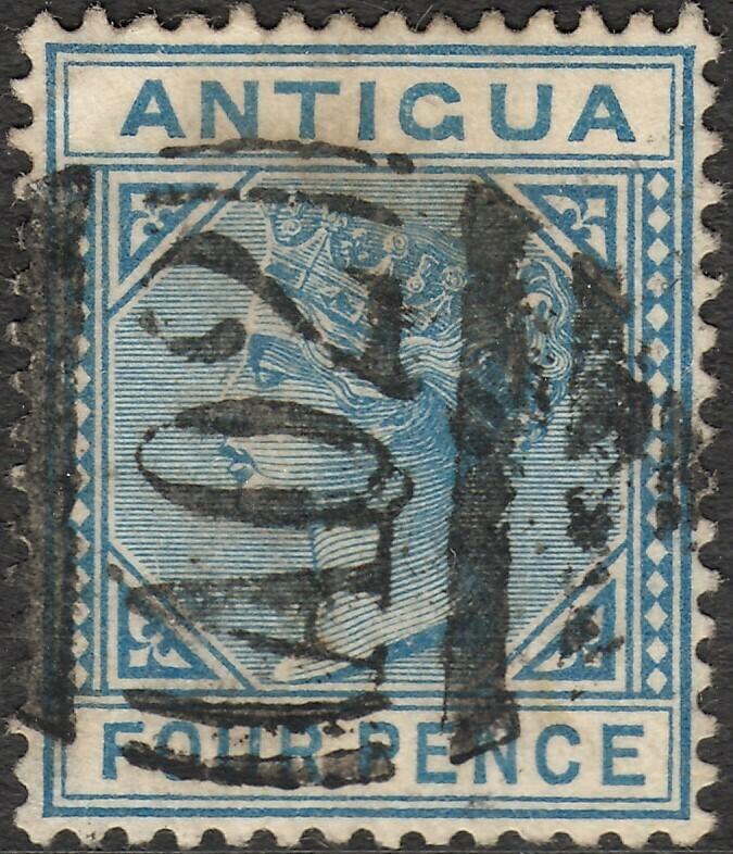 Antigua 1879 QV 4d Blue Used