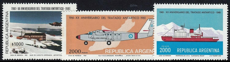 Argentina 1981 20th Anniversary of Antarctic Treaty Set MUH