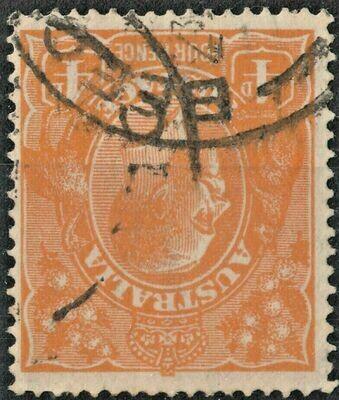 Australia 1915 KGV 4d Orange Watermark Inverted FU