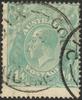 Australia 1920 KGV 1/4d Pale Blue Used
