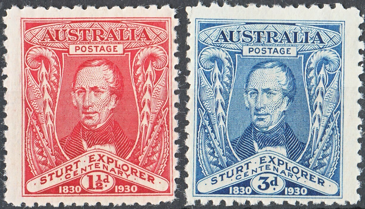 Australia 1930 KGV Sturt Set of 2 MUH