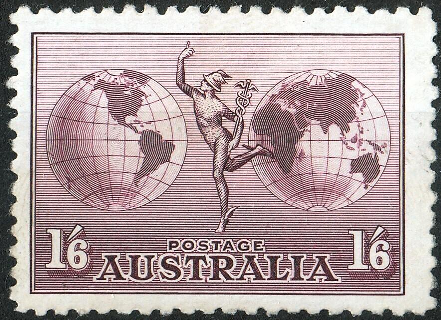Australia 1934 KGV 1/6d Hermes No Watermark MH