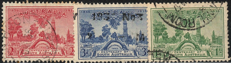 Australia 1936 KGV South Australia Centenary Set Used