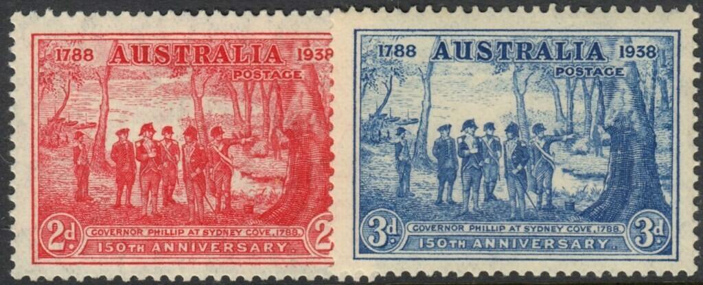 Australia 1937 2d & 3d NSW Sesquicentenary MUH