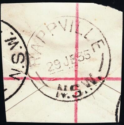 Australia 1935 Rappville (NSW) Complete Cancel on Piece