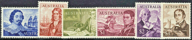 Australia 1966 QEII Decimal Navigators Set MUH