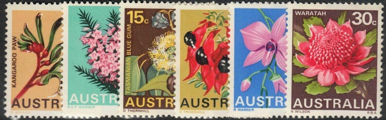 Australia 1968 QEII State Flowers Set MUH