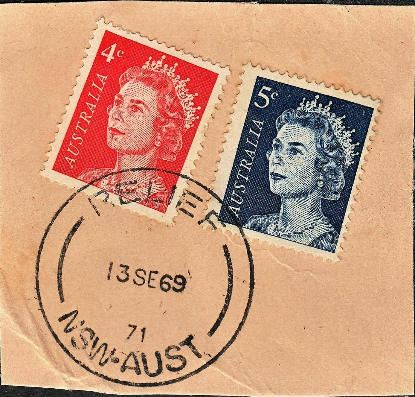 Australia 1969 NSW Relief Cancel on Piece