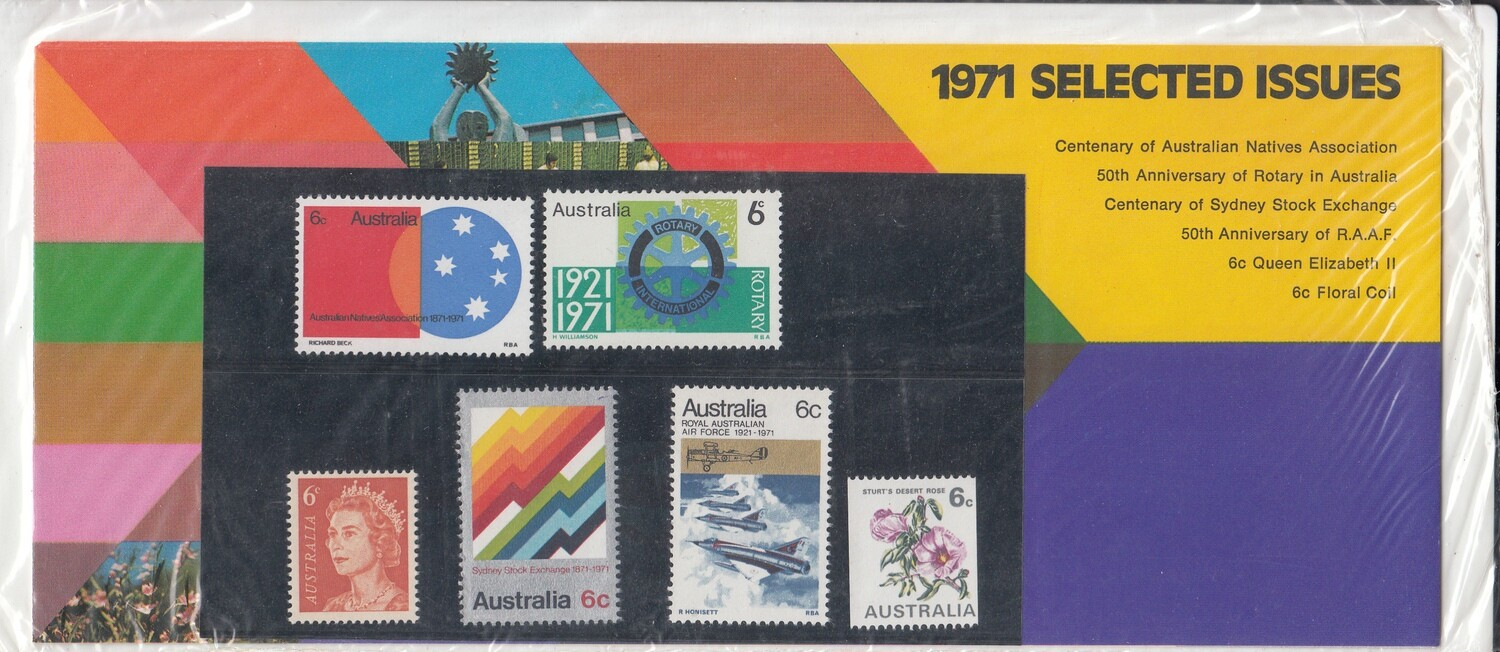Australia 1971 QEII Selected Issues Presentation Pack Unopened