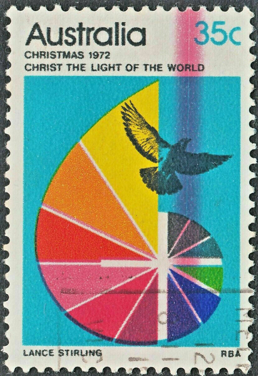 Australia 1972 QEII 35c Christmas with Doctor Blade Flaw VFU