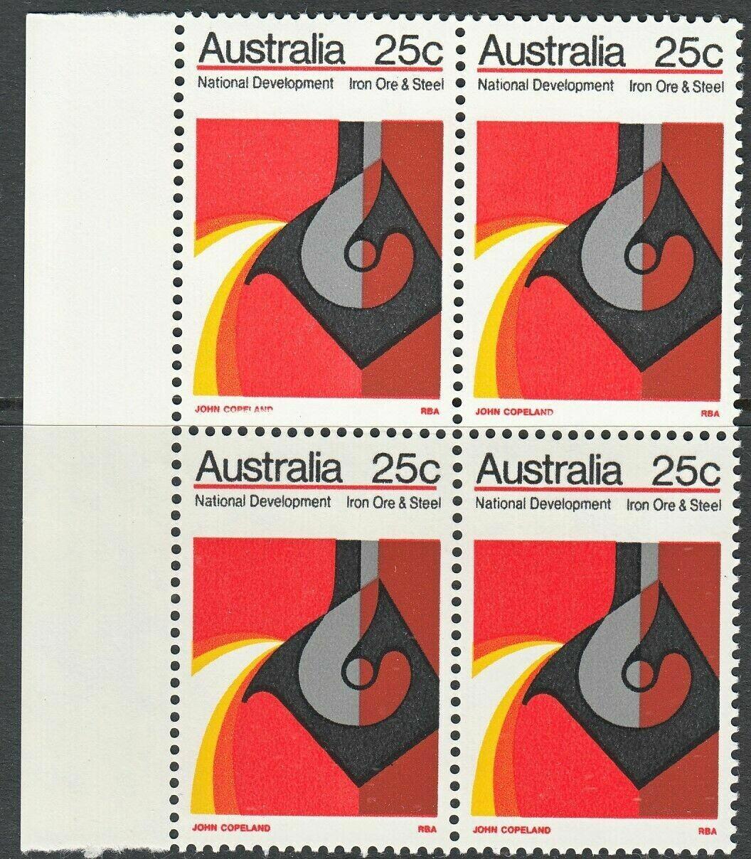 "Australia 1973 QEII 25c Iron Ore National Development with Pale ""Copeland"" MUH"