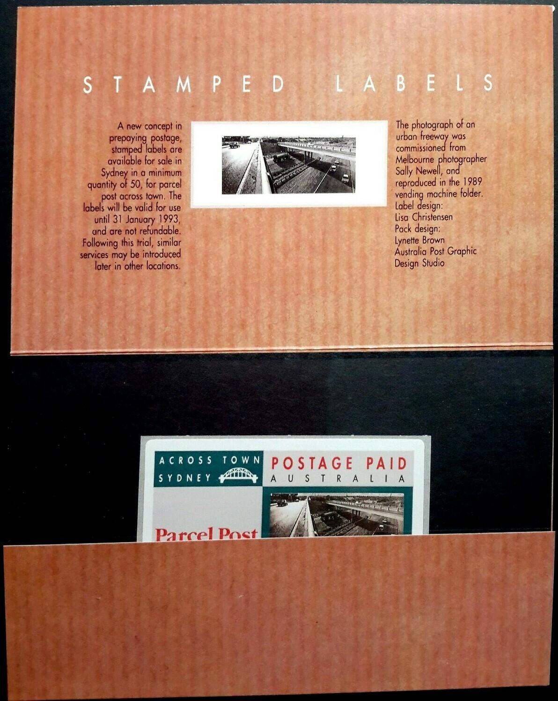 Australia 1991 QEII Sydney Across Town Label Presentation Pack