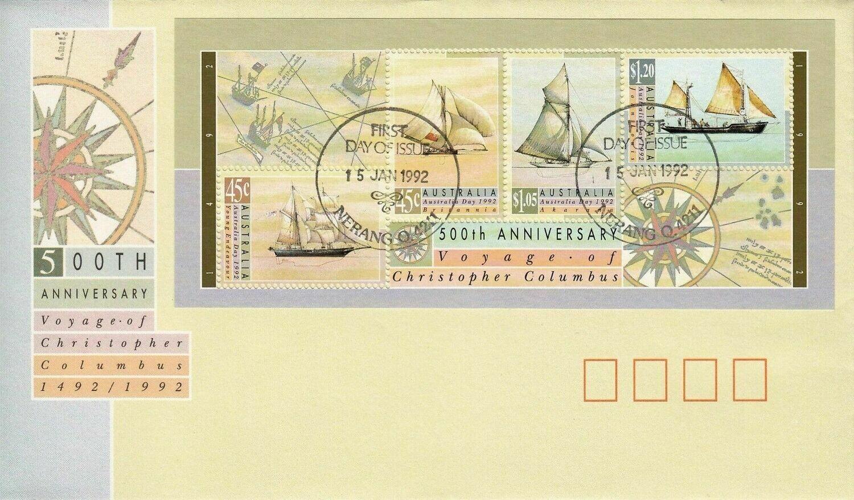 Australia 1992 QEII Australia Day Miniature Sheet FDC