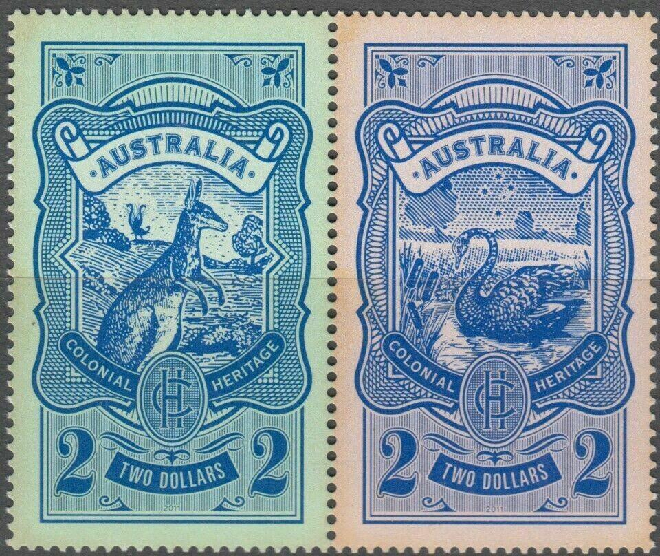 Australia 2011 QEII $2 Colonial Heritage Pair MUH