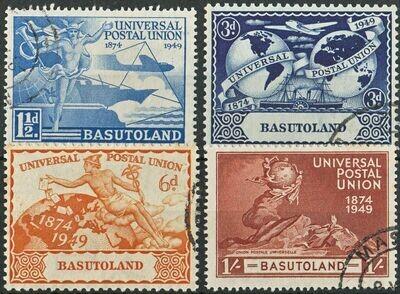 Basutoland 1949 KGVI UPU Set VFU
