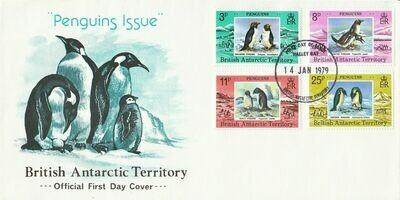 BAT 1979 QEII Penguins Set on Unaddressed FDC
