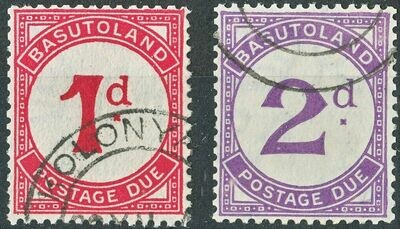Basutoland 1933 KGV 1d and 2d Postage Dues VFU